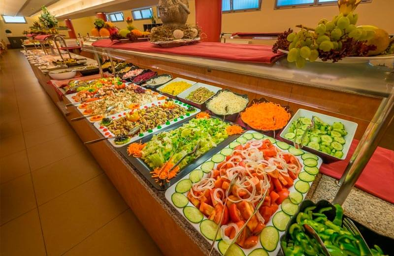Tossa beach center buffet restaurant